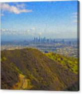 Los Angeles Ca Skyline Runyon Canyon Hiking Trail Canvas Print