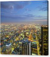 Los Angeles Downtown Nightscape Canvas Print
