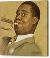 Louis Armstrong, Music Legend Canvas Print