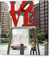 Love Sculpture Canvas Print