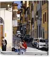 Lovers In Santa Croce Canvas Print