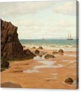 Low Tide At The Ris Beach Canvas Print