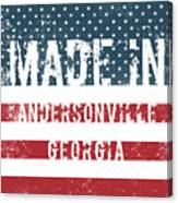 Made In Andersonville, Georgia Canvas Print