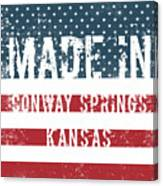 Made In Conway Springs, Kansas Canvas Print