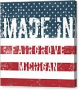 Made In Fairgrove, Michigan Canvas Print