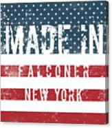Made In Falconer, New York Canvas Print