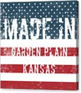 Made In Garden Plain, Kansas Canvas Print
