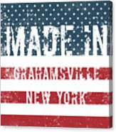 Made In Grahamsville, New York Canvas Print