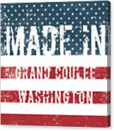 Made In Grand Coulee, Washington Canvas Print