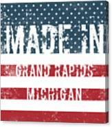 Made In Grand Rapids, Michigan Canvas Print
