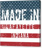 Made In Lafayette, Indiana Canvas Print