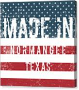 Made In Normangee, Texas Canvas Print