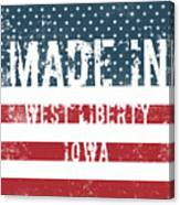 Made In West Liberty, Iowa Canvas Print