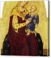 Madonna And Child Enthroned Canvas Print