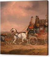 Mail Coaches On The Road Canvas Print