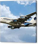 Malaysia Airlines Airbus A380 Canvas Print