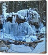 Maligne Canyon Frozen Canvas Print