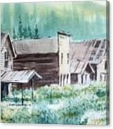 Mammoth Ghost Town Montana Canvas Print