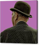 Man With A Bowler Hat Canvas Print