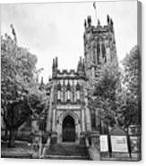 Manchester Cathedral Uk Canvas Print