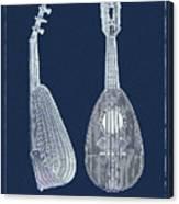 Mandolin Blue Musical Instrument Canvas Print