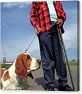 Man's Best Friend Canvas Print