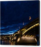 Margaret  Bridge In Budapest Canvas Print