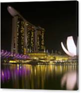 Marina Bay Sands Hotel And Artscience Museum In Singapore Canvas Print