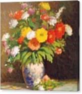 Market Flowers Impression Canvas Print