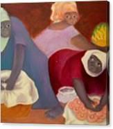 Market Women Canvas Print