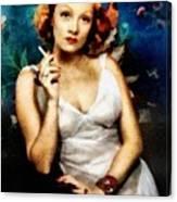 Marlene Dietrich, Vintage Actress Canvas Print