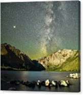Mars And The Milky Way Canvas Print