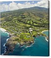 Maui Aerial Of Kapalua Canvas Print