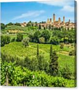 Medieval Town Of San Gimignano, Tuscany, Italy Canvas Print