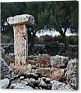 Megalithic Taula In Binisafua Menorca Bronze Age Canvas Print