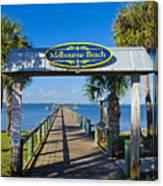 Melbourne Beach Florida Canvas Print