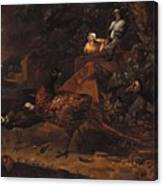 Melchior De Hondecoeter In The Manner Of The Artist, Wild Birds In A Park Landscape. Canvas Print