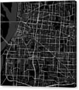 Memphis Tennessee Usa Dark Map Canvas Print