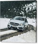Mercedes Benz A45 Amg Snow Canvas Print