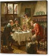 Merry Company In A Dutch Interior Canvas Print