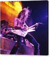 Metallica 1986 James Hetfield Canvas Print
