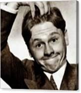 Mickey Rooney, Vintage Actor Canvas Print