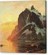 Midnattsol Lofoten Canvas Print
