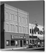 Miles City, Montana - Downtown 2 Bw Canvas Print