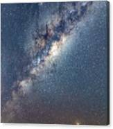 Milky Way And Mars Canvas Print