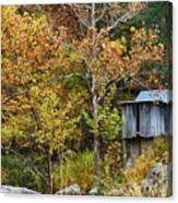 Mill In The Fall Canvas Print
