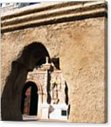 Mission San Xavier Del Bac Tohono O Odham Indian Reservation Canvas Print