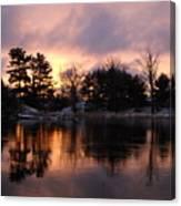 Mississippi River Dawn Light Canvas Print