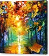 Misty Park Canvas Print