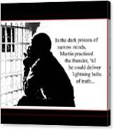 Mlk In Jail Canvas Print